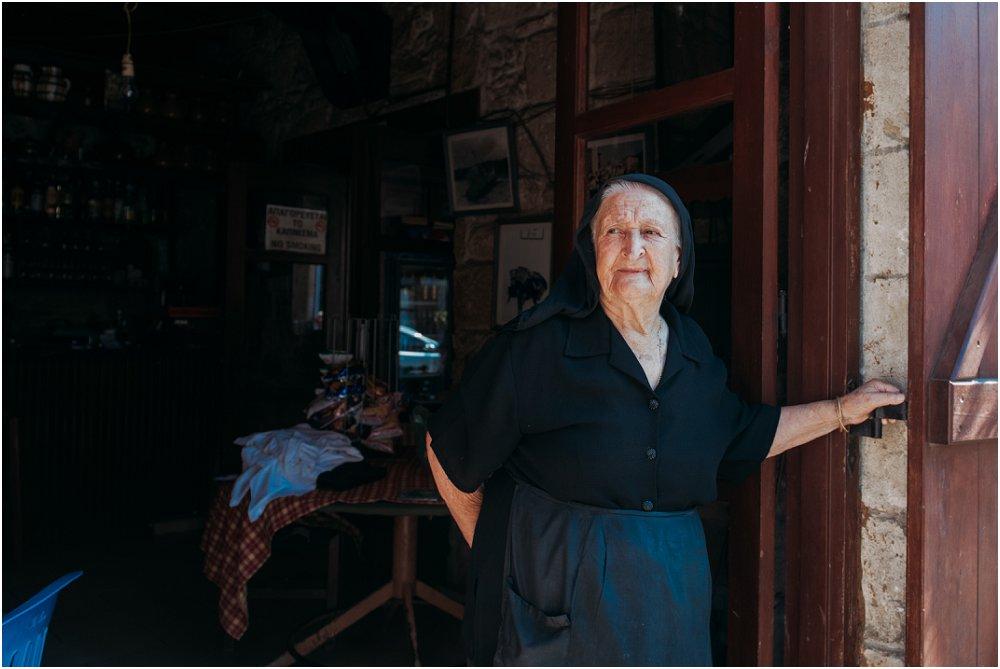 Anassa Hotel Cyprus traditional Greek lady