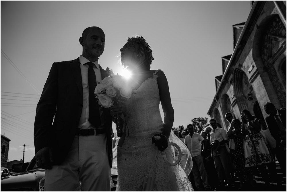 Anassa Hotel Cyprus backlit bride and groom photo