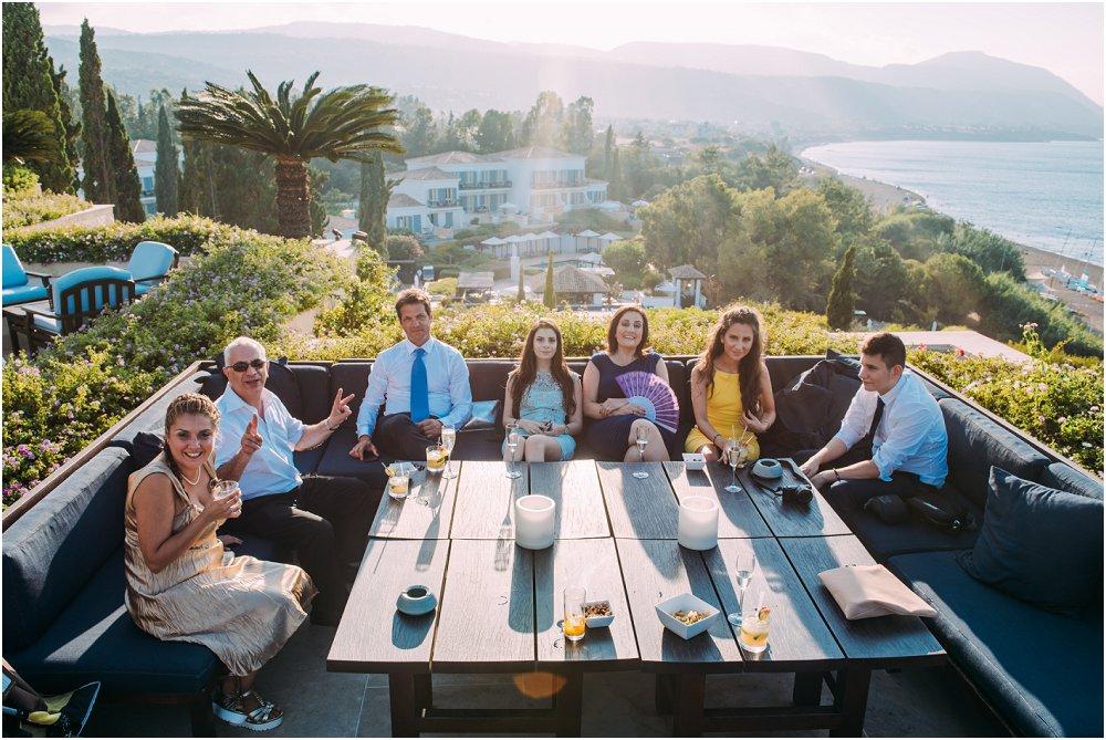 Anassa Hotel Cyprus wedding guests on balcony photo