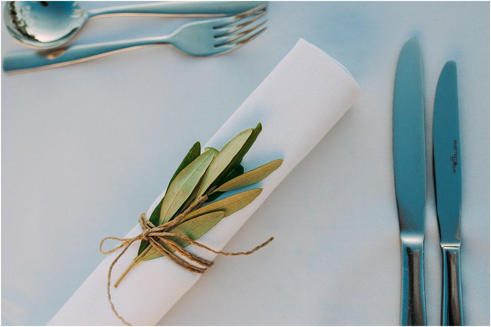 Anassa Hotel Cyprus wedding table settings detail