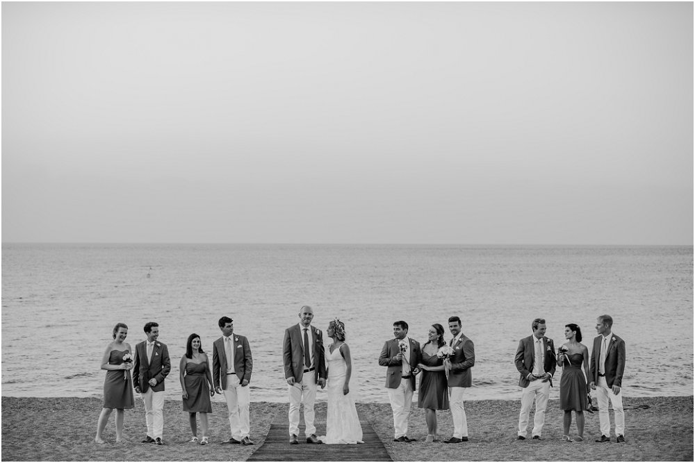 Anassa Hotel Cyprus wedding party on beach photo