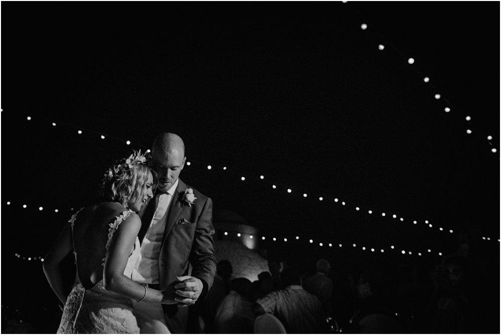 Anassa Hotel wedding first dance black and white photo