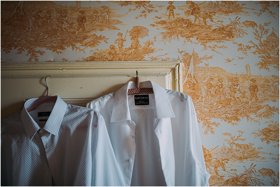 Chateau de Cazenac groom shirt photo