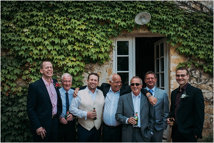 Chateau de Cazenac groomsmen wedding photo