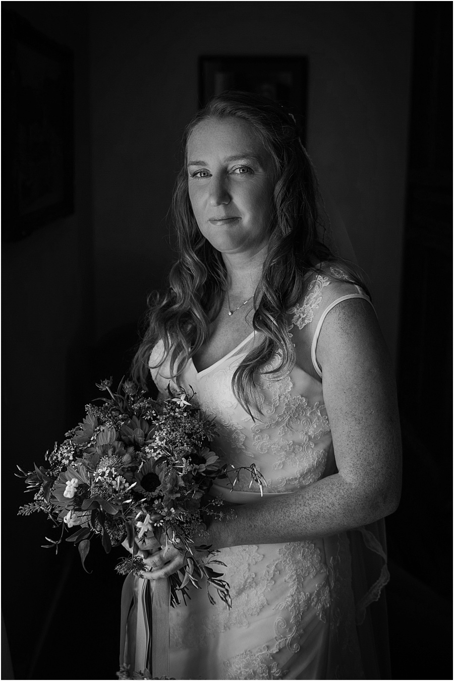 Chateau de Cazenac bride before ceremony photo