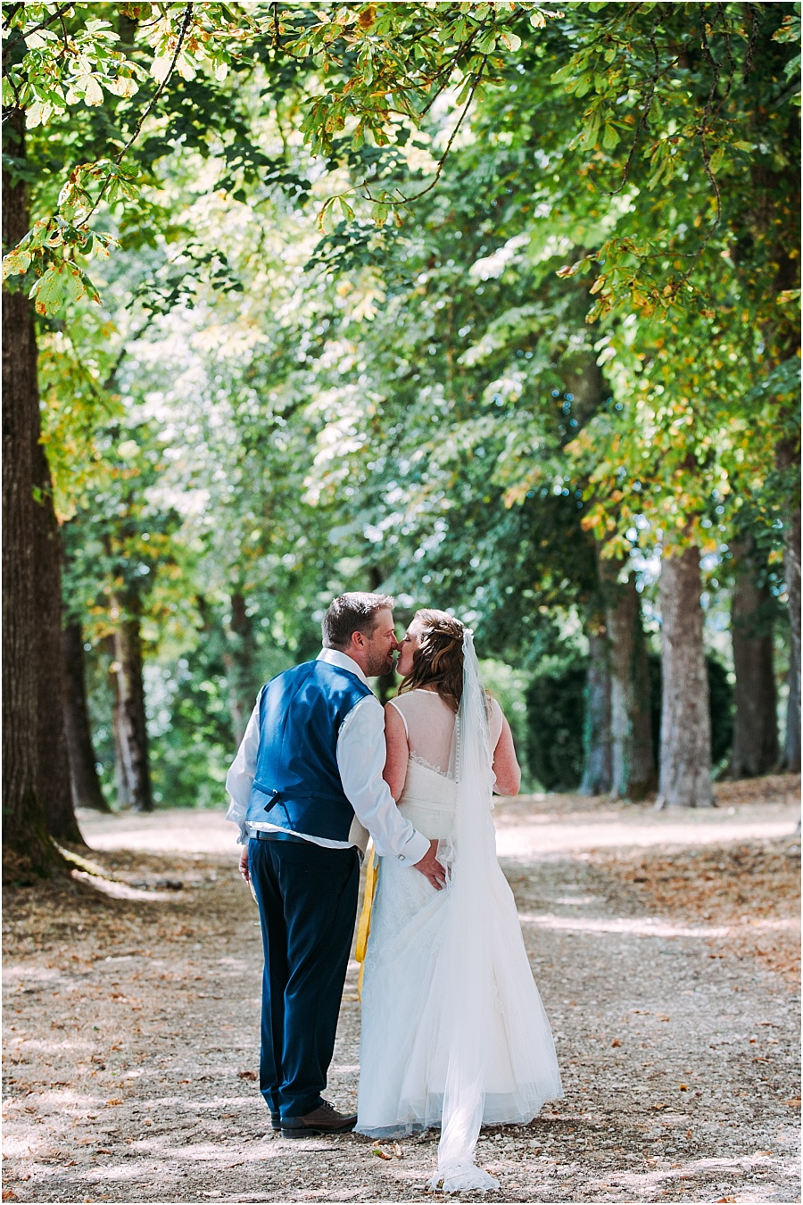 Chateau de Cazenac bride and groom portrait wedding photo