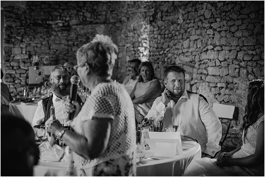 Chateau de Cazenac speeches at wedding photo