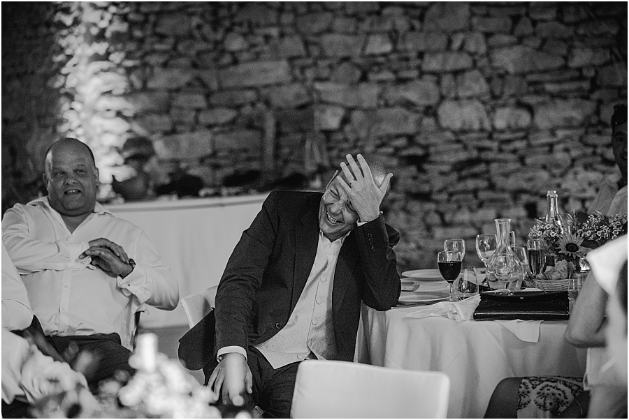 Chateau de Cazenac guest in hysterics wedding photo