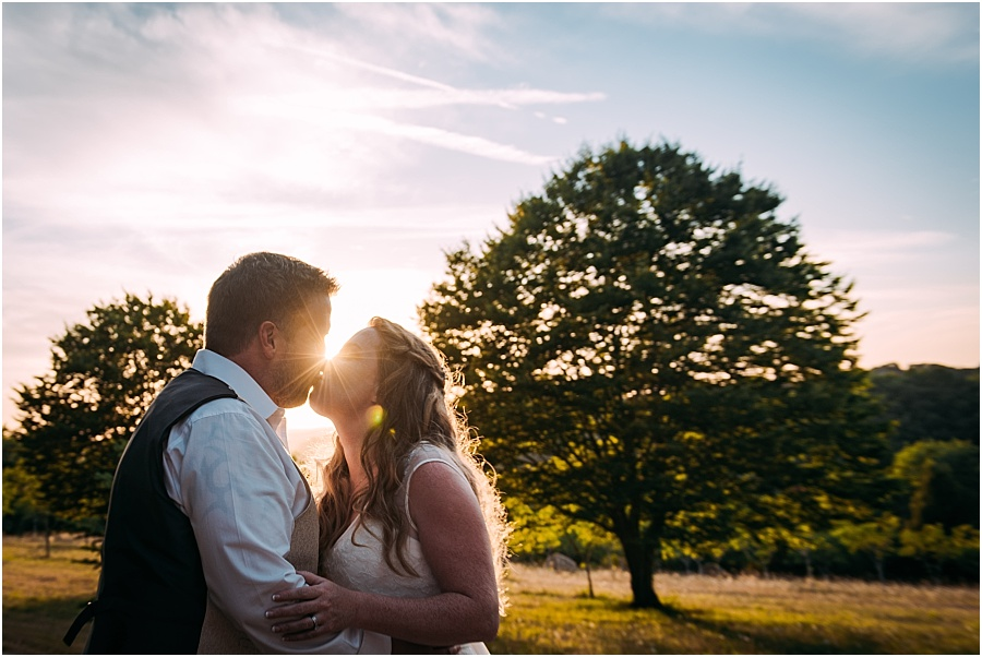 Chateau de Cazenac golden light portrait wedding photo