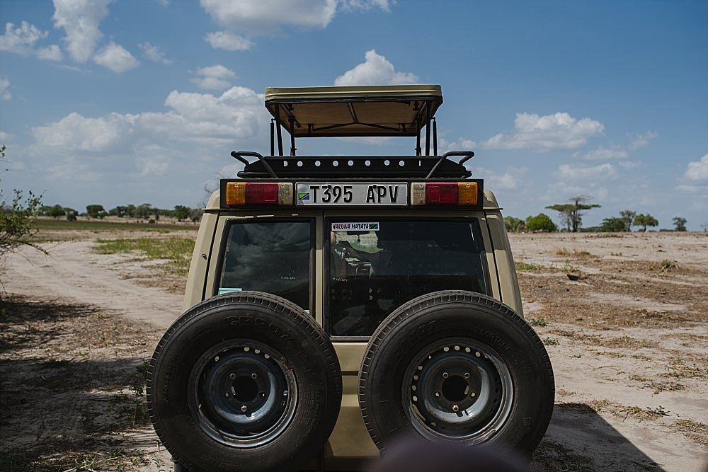 Personal photography blog safari jeep in Selous game reserve