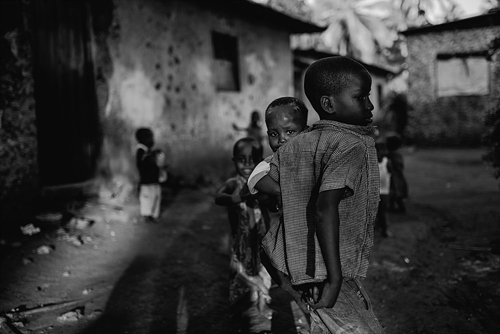 Personal photography blog Zanzibar village children