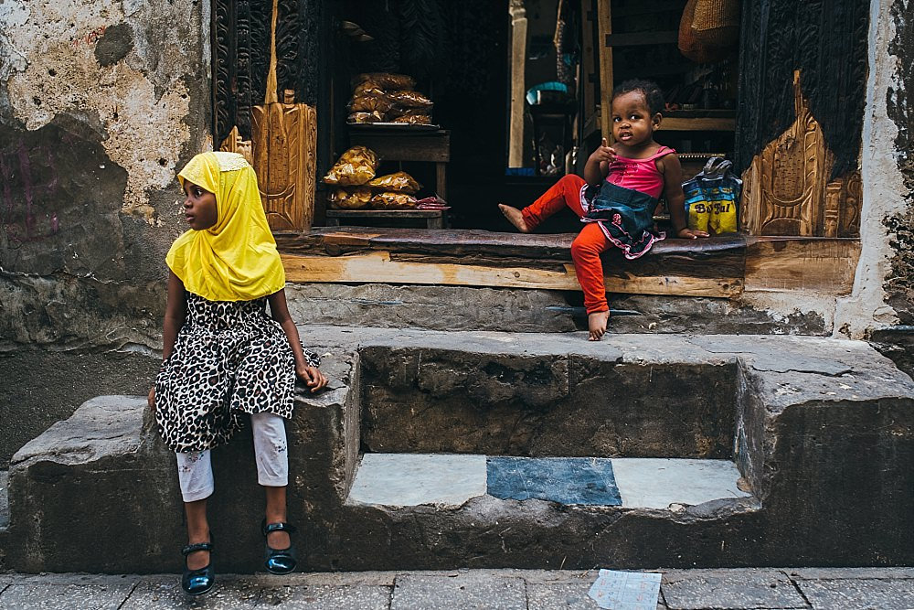 Personal photography blog Stone Town shop girls