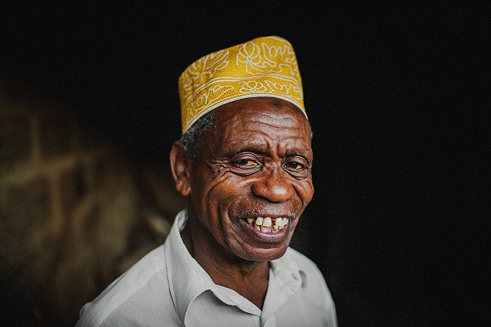 Personal photography blog Zanzibar local village man