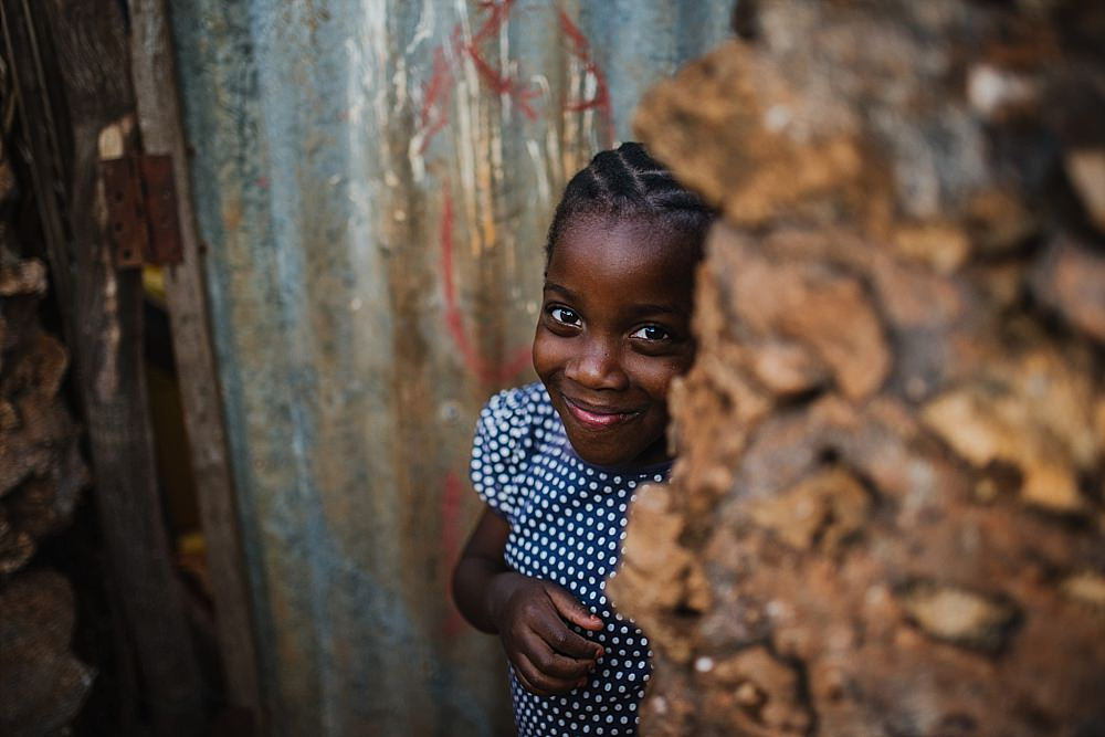 Personal photography blog Zanzibar shy village girl