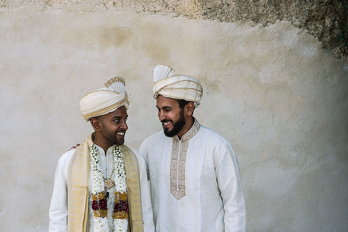 Indian Wedding Photography -groom with bestman-Chateau De Malliac