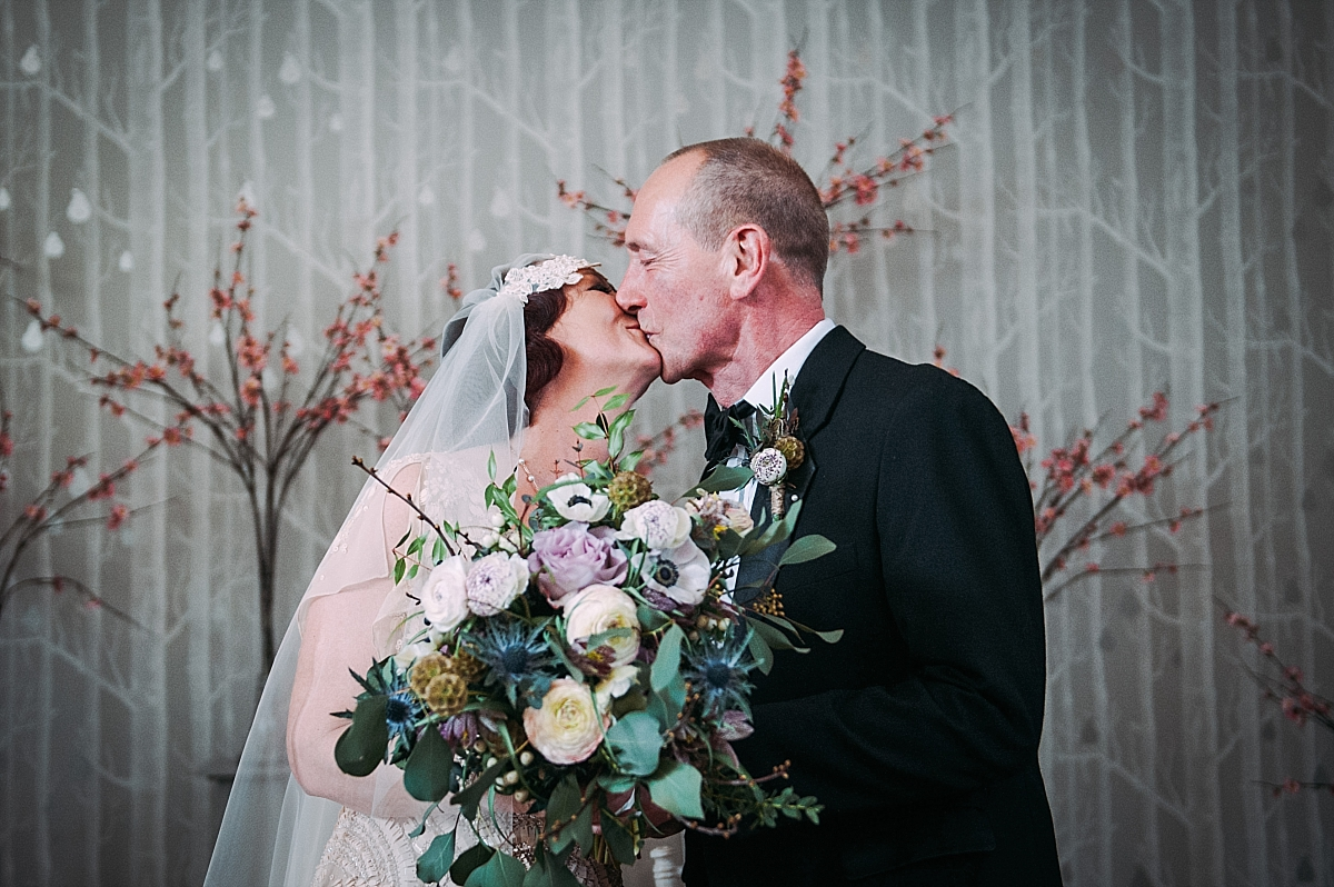 Hampton Manor Wedding Photography the first kiss