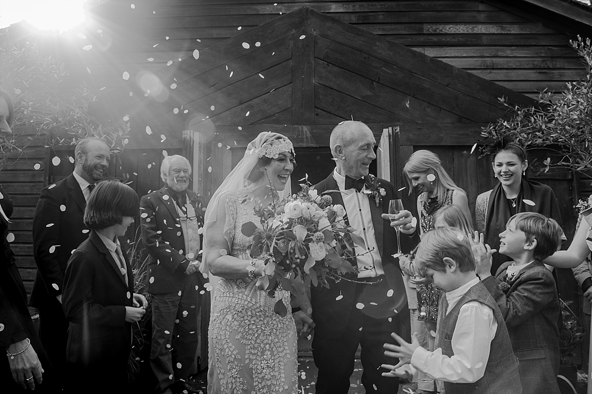 Hampton Manor Wedding Photography confetti