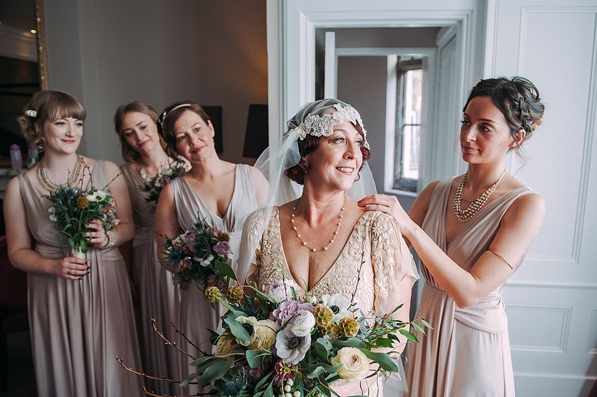 Hampton Manor Wedding Photography homemade headdress