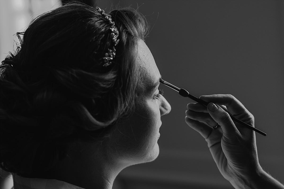 Dorney Court Wedding Photos bridal prep close up