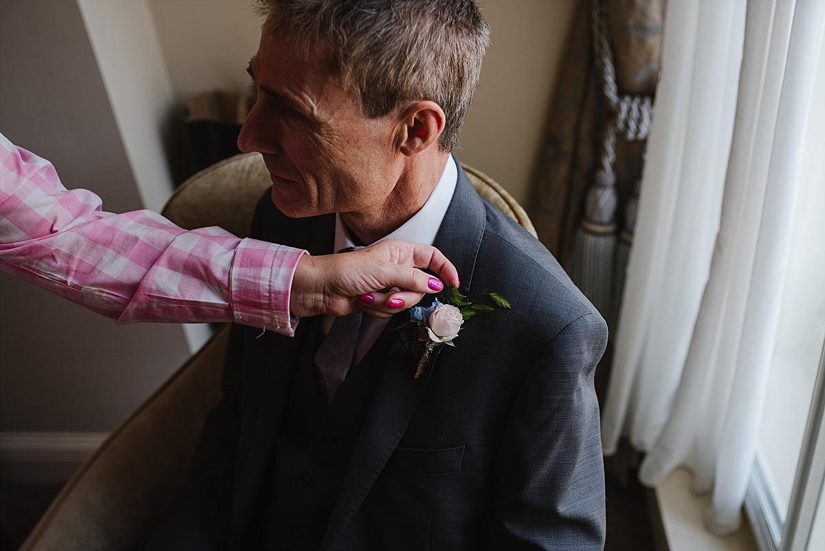 Dorney Court Wedding Photos button hole