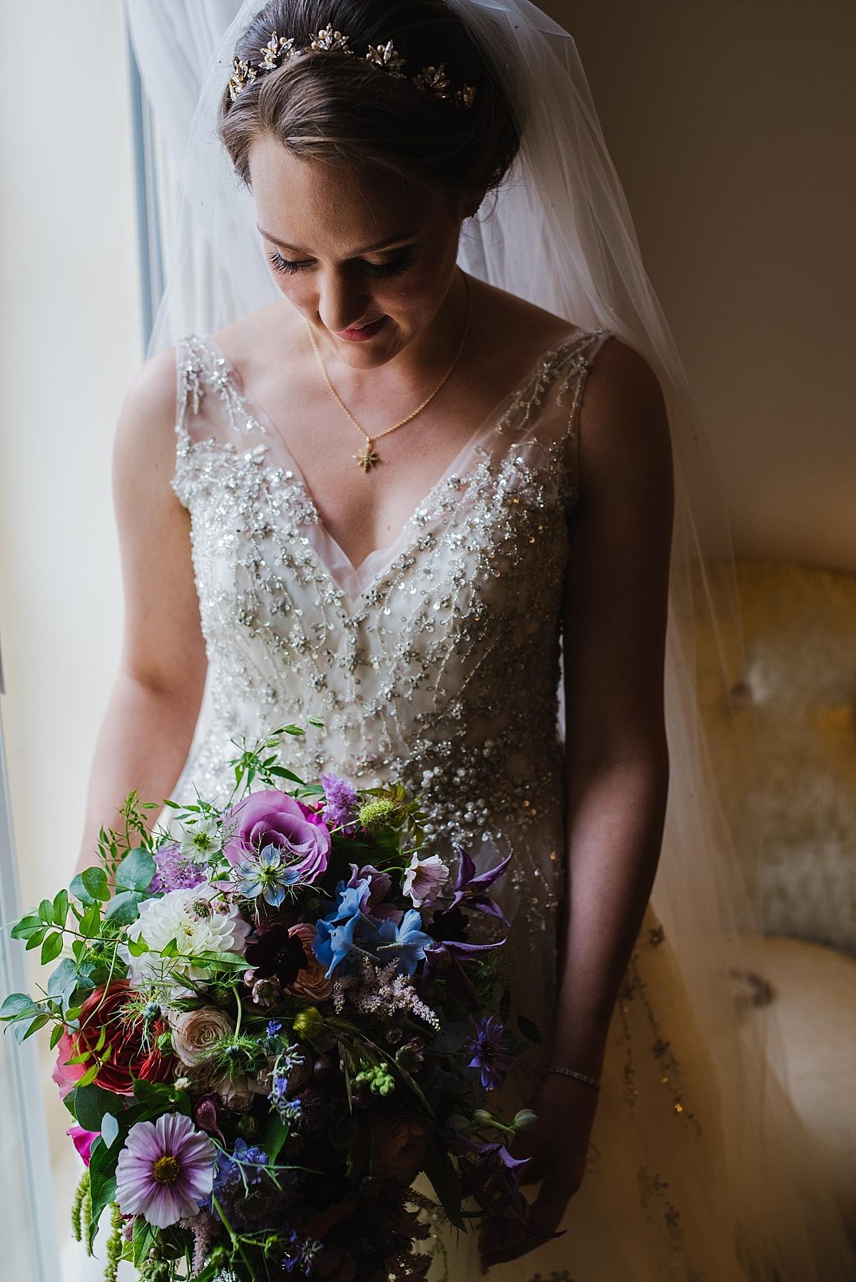 Dorney Court Wedding Photos bride in window light