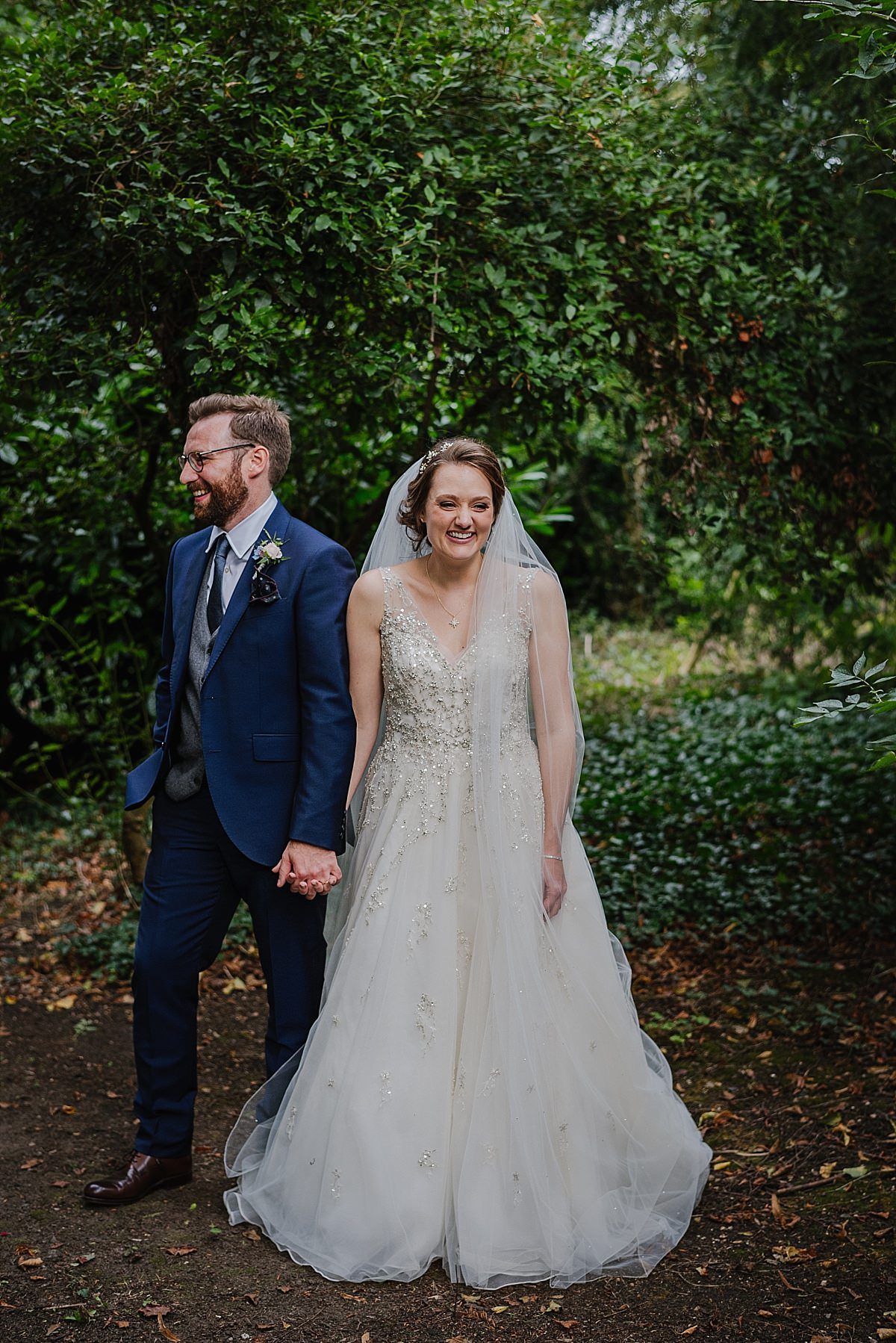 Bridal and groom portrait at Dorney Court Wedding