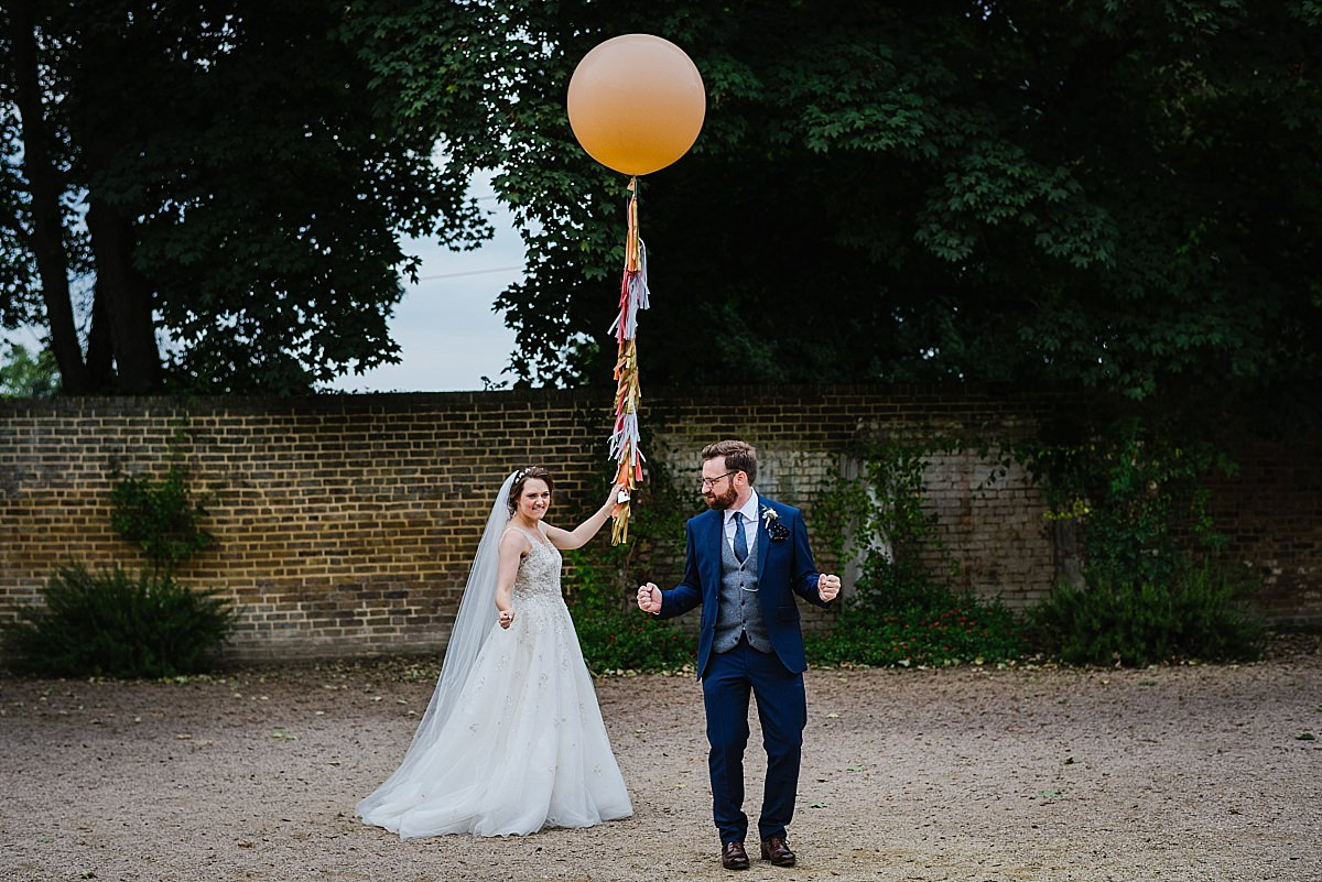 Unconventional photography at Dorney Court Wedding