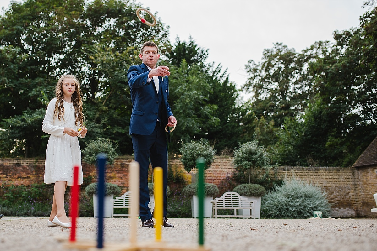 Garden games at Dorney Court Wedding in Windsor