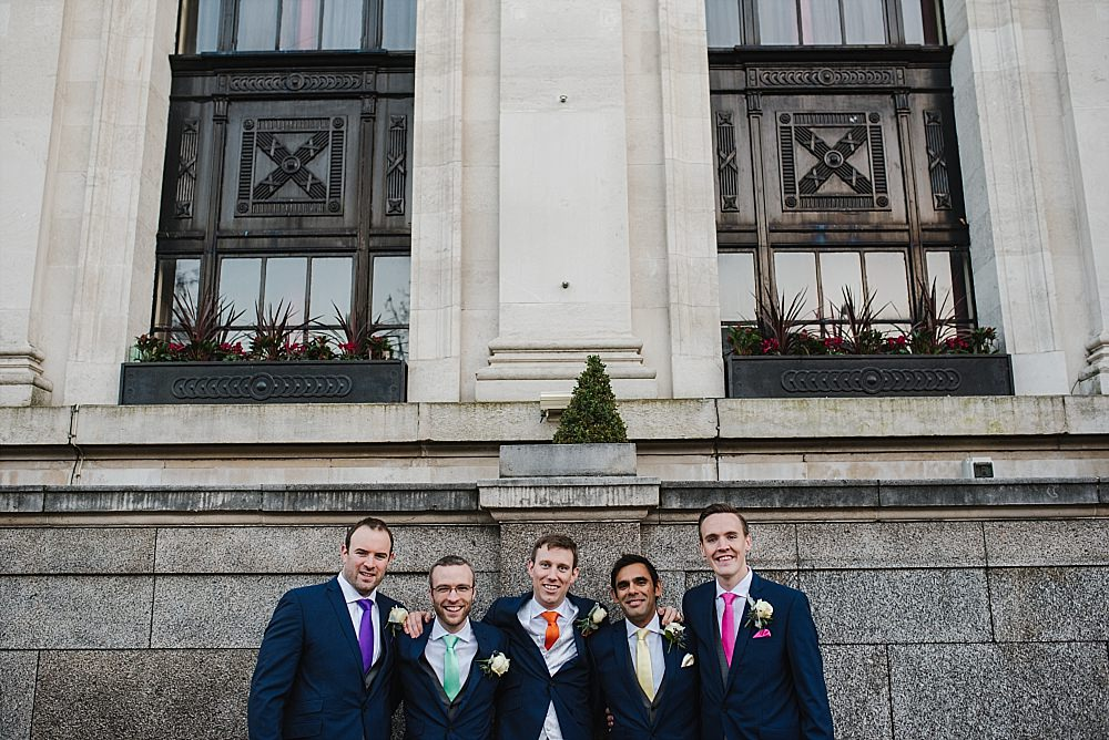 Islington Town Hall Wedding groomsmen