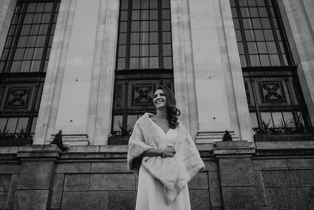 Islington Town Hall Wedding bride