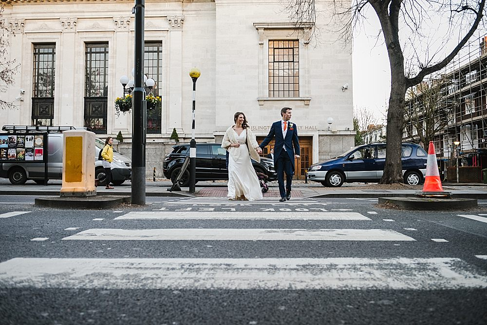 Islington Town Hall Wedding bride and groom