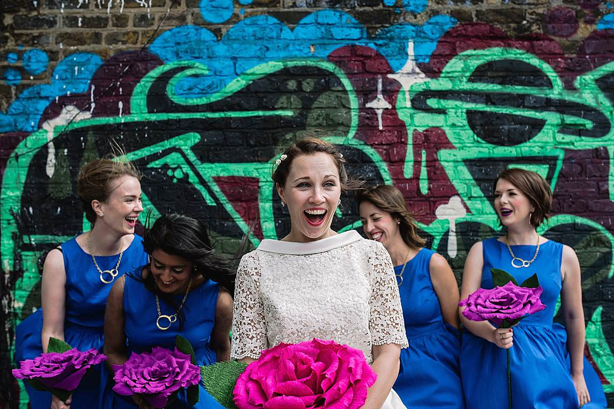 Stour Space wedding bridal party