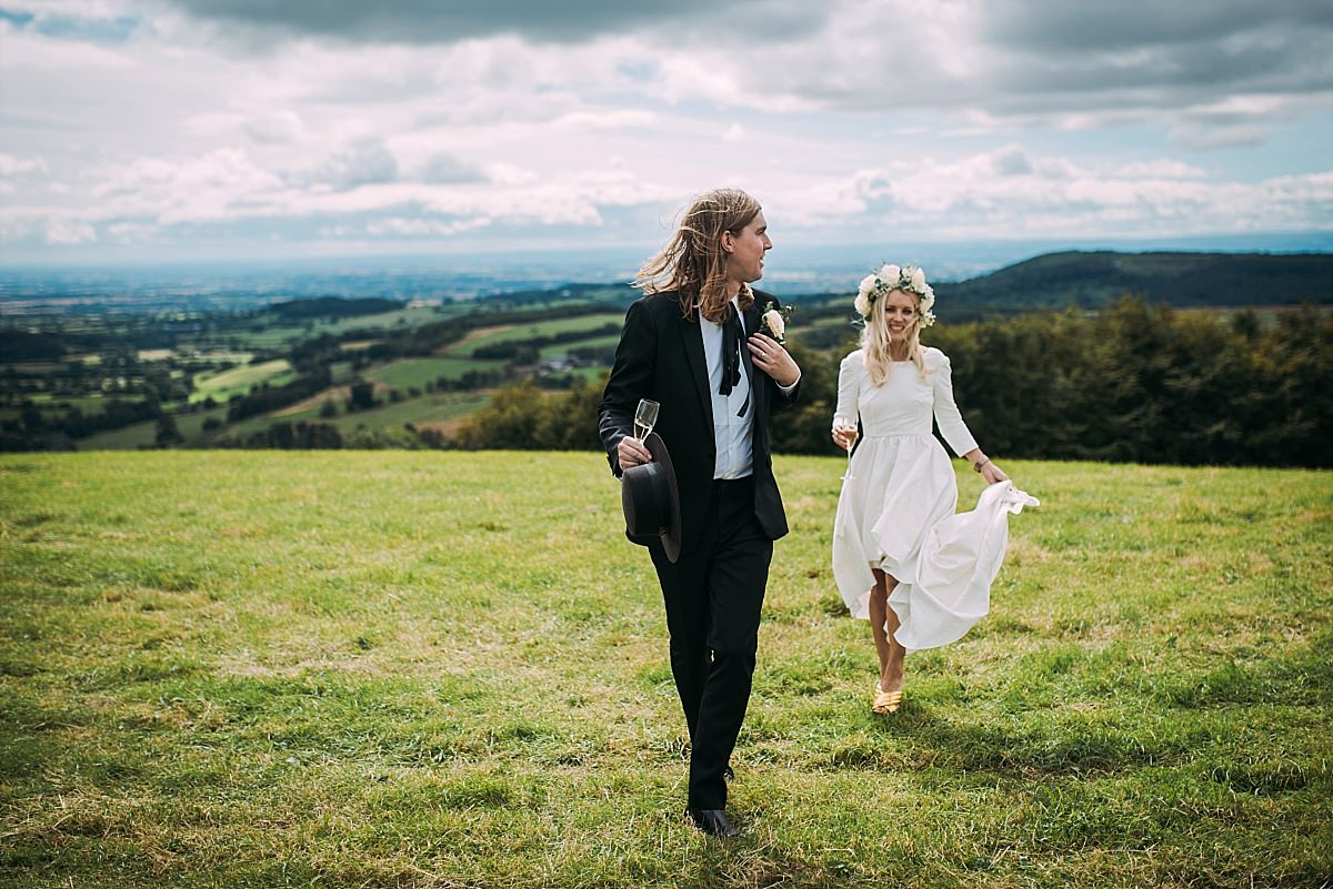 Couple just married at High Paradise Farm in Yorkshire