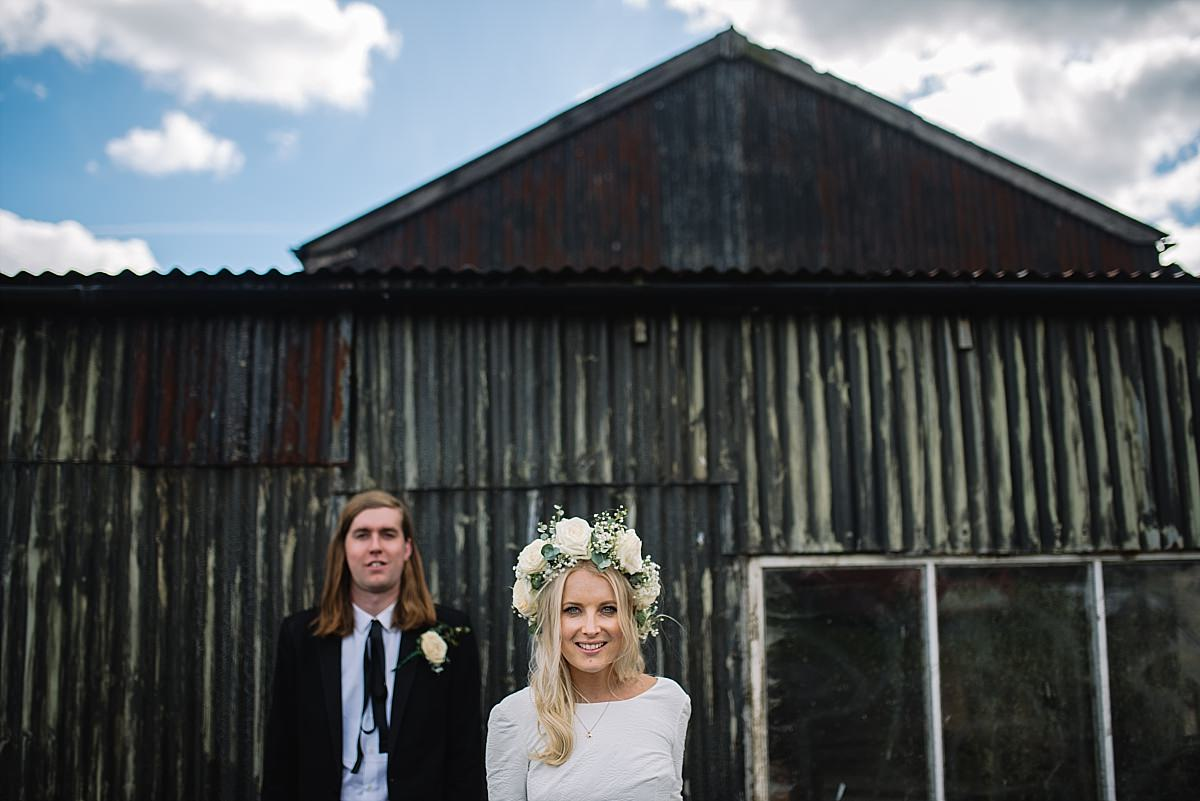 Quirky portraits at High Paradise Farm wedding