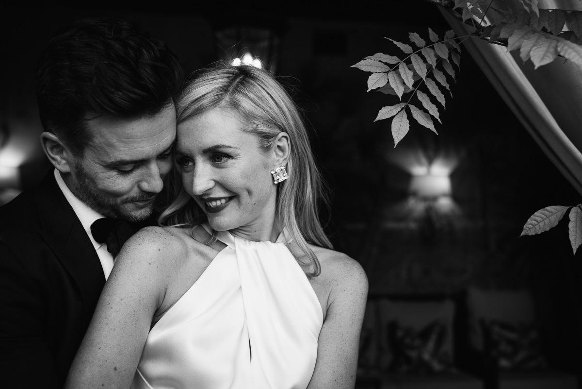 Romantic bride and groom portrait photography at Dorset wedding venue 10 Castle Street
