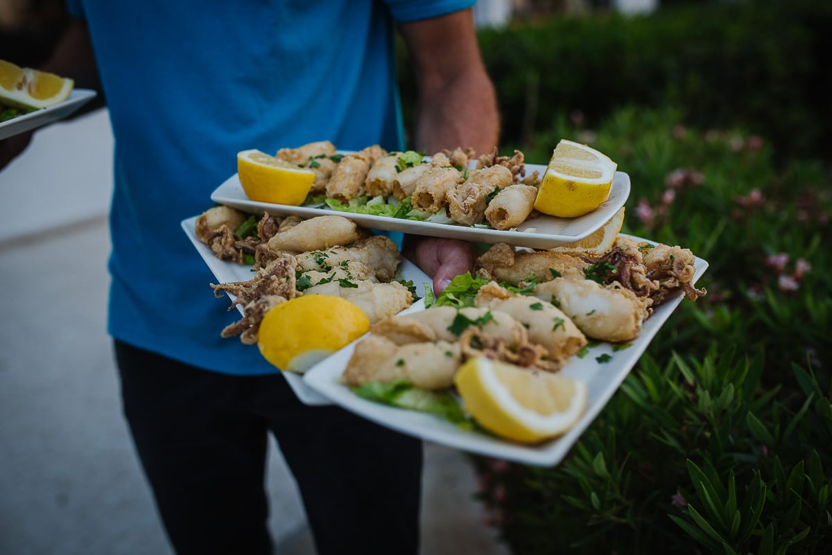 Traditional greek cuisine served to guests at Souli Beach Hotel Wedding venue