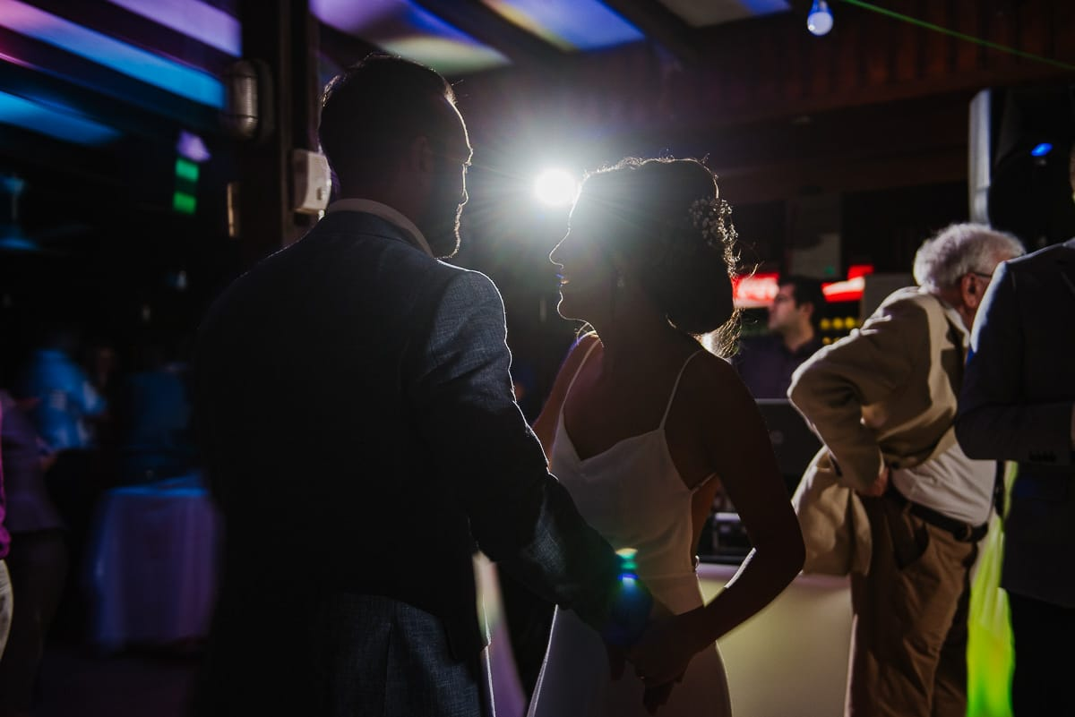 Groom and bride dancing during Souli beach hotel wedding part