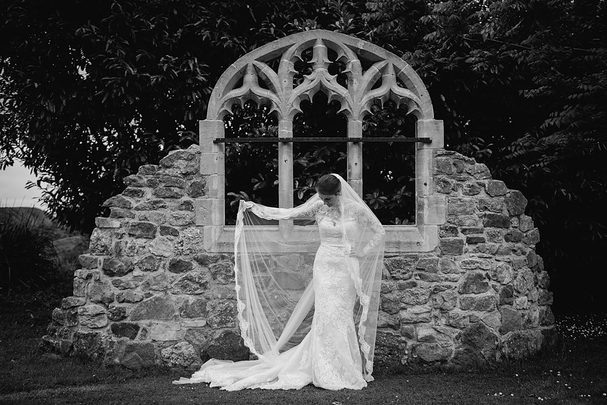 Bride wearing Pronovias dress from Allison Jayne Bridal Swansea