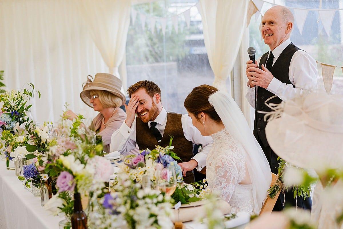 Marquee Penmaen House Wedding photo