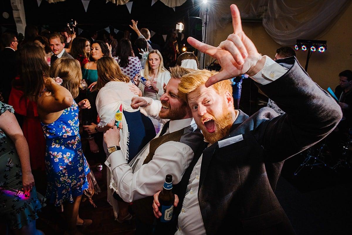 Penmaen House dance floor Wedding photo