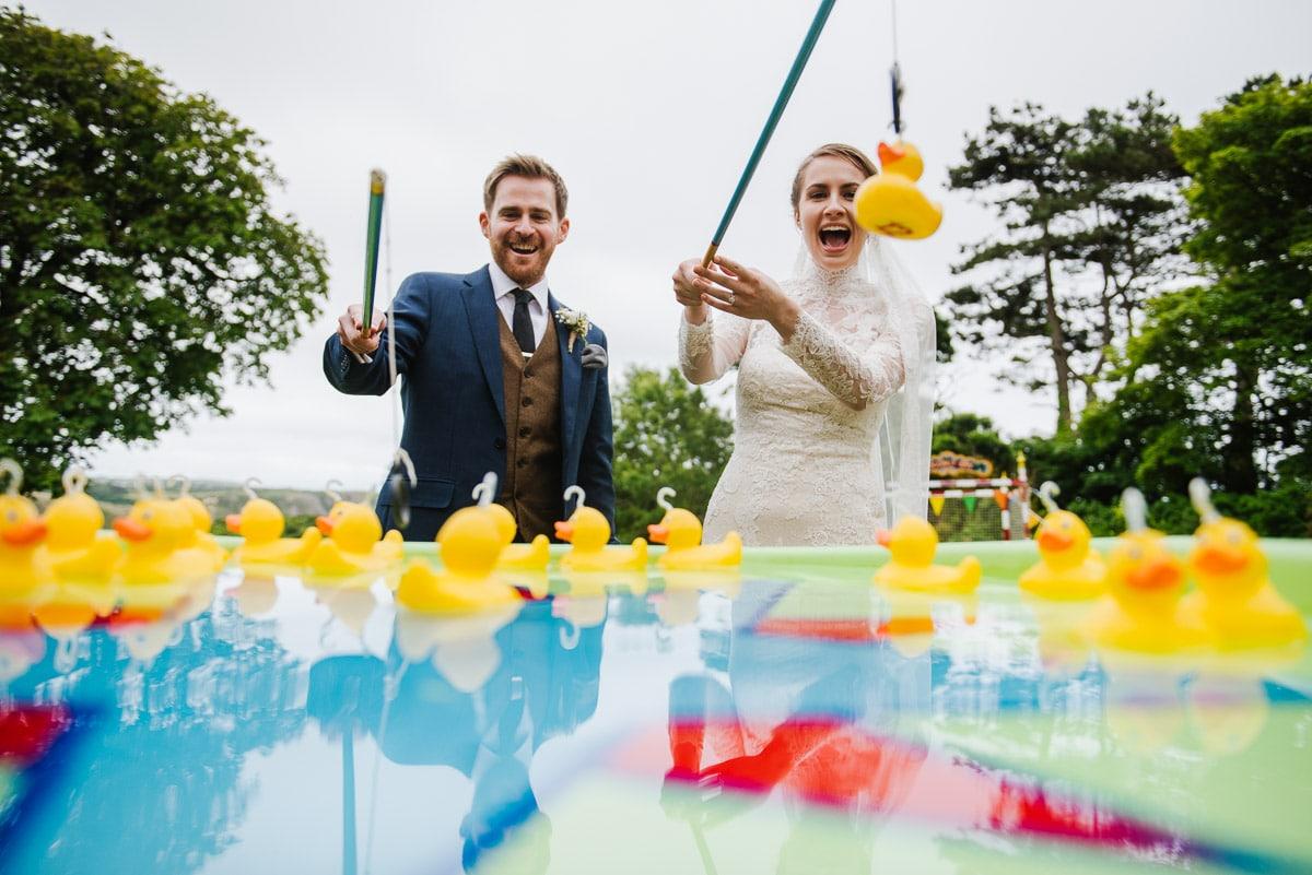 Funfair games at Penmaen House Wedding
