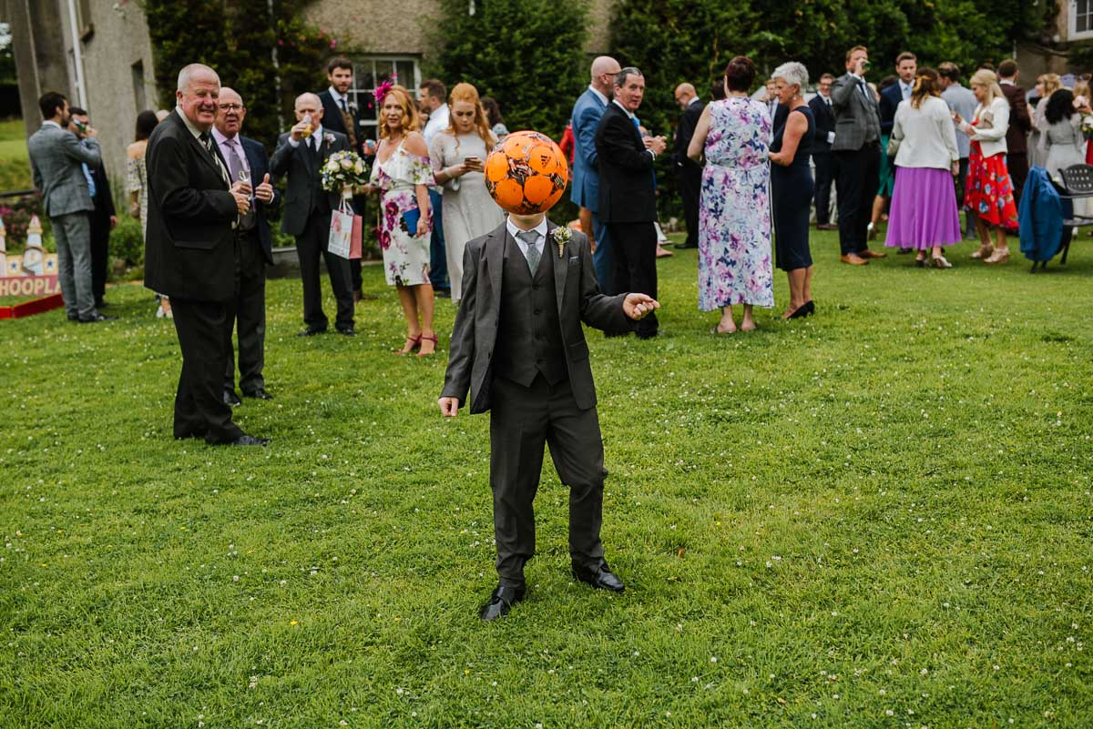 Lawn party games Penmaen House Wedding photo