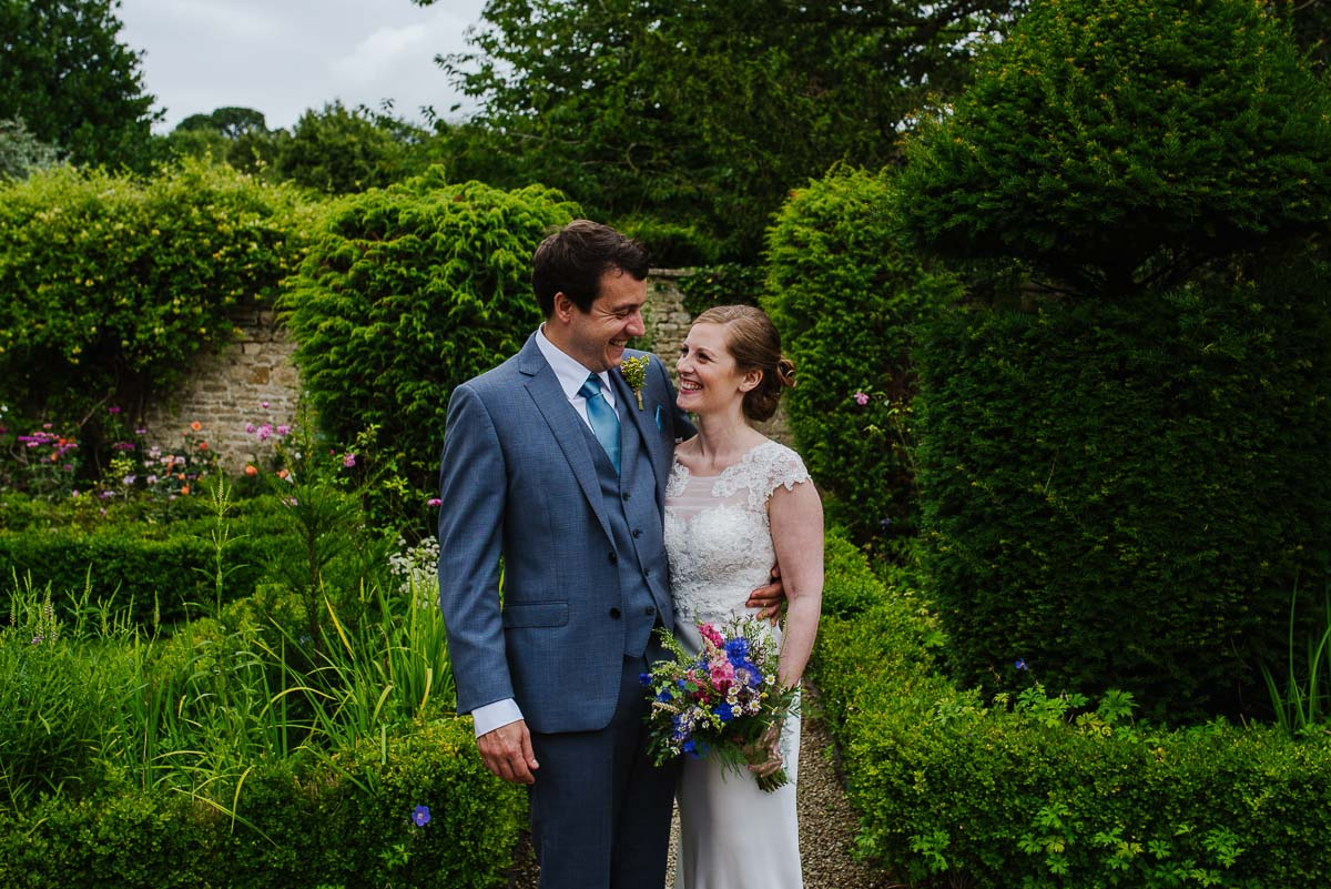 Bride groom marriage Cotswolds summer wedding