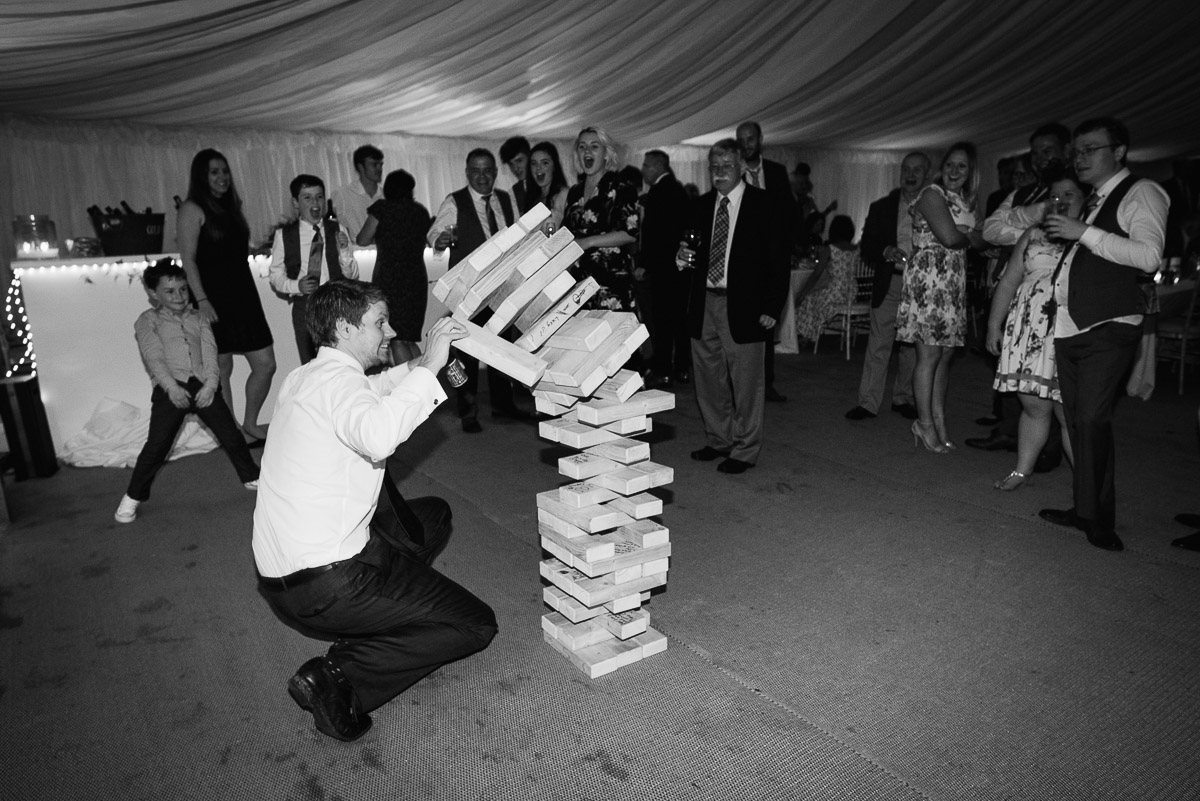 Owlpen manor house wedding party games