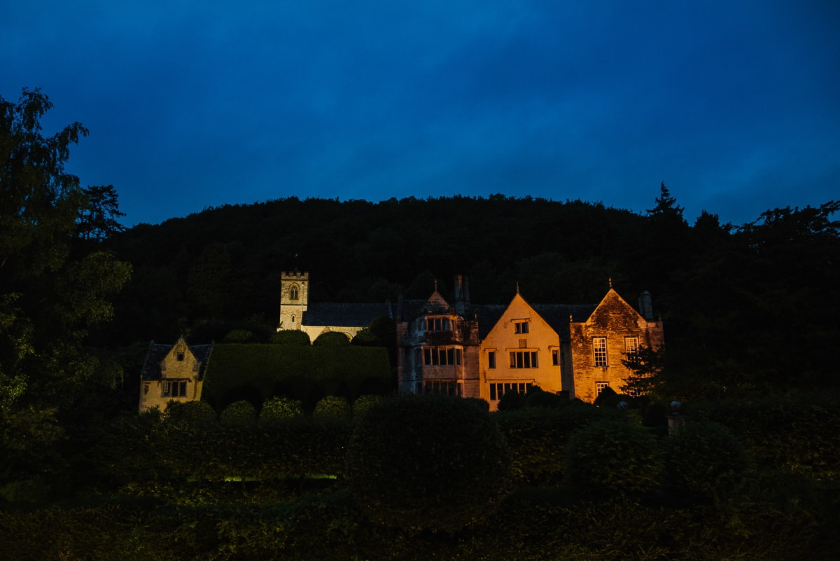 Owlpen manor house night time photo