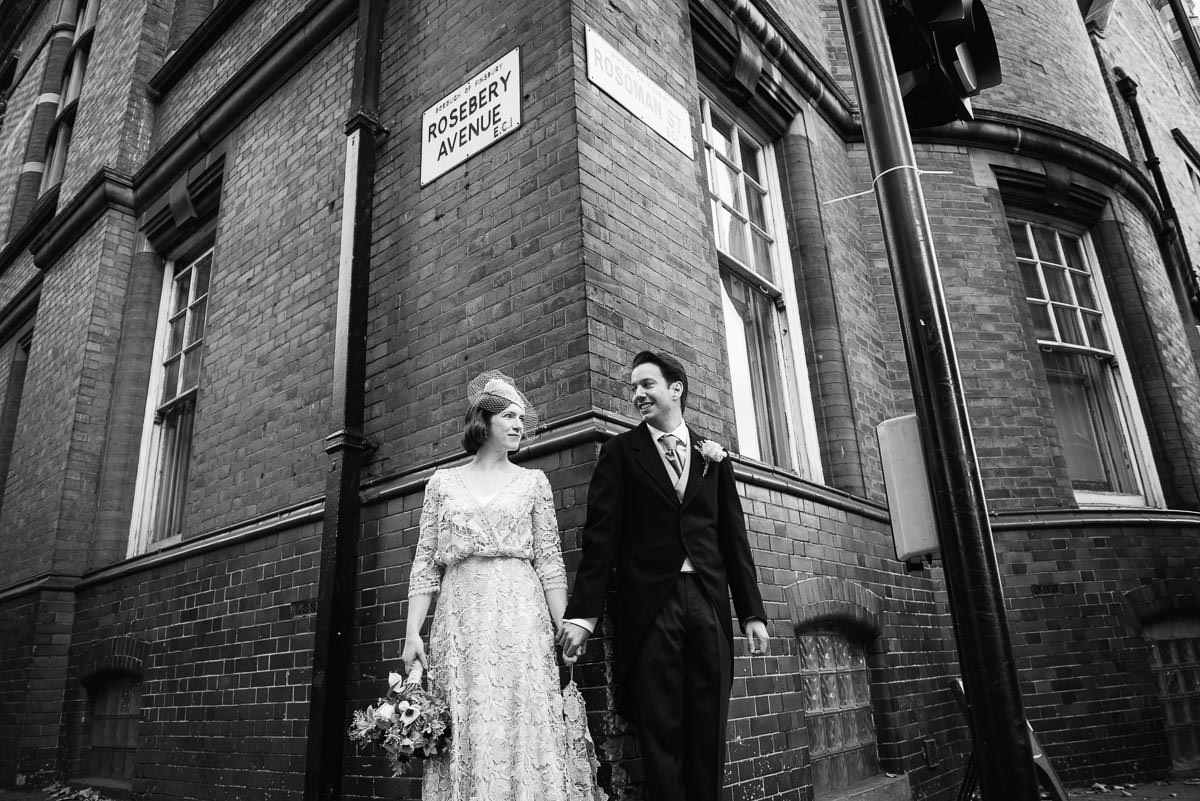 London alternative street wedding photos