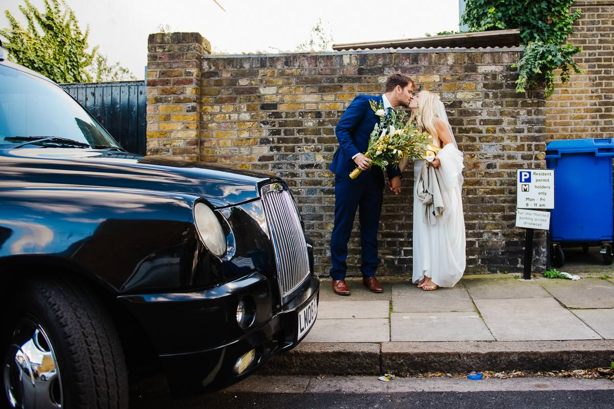Alternative and natural wedding photography in London