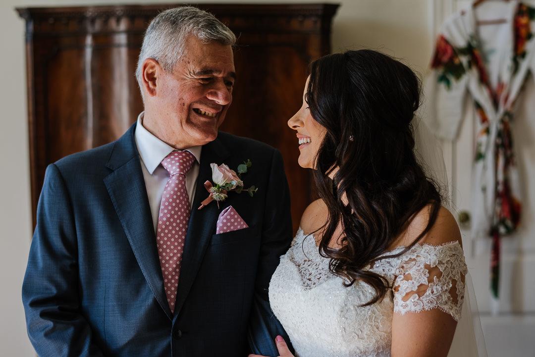 Ardington house oxfordshire bride with father photo