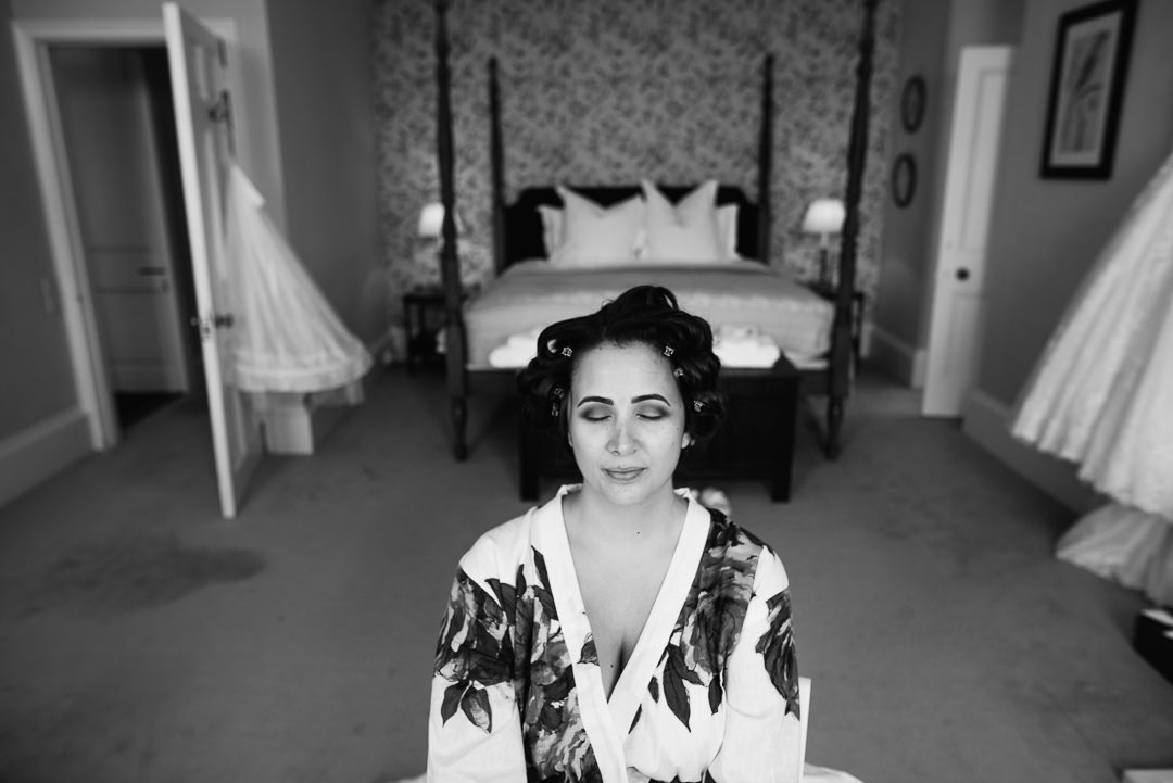 ardington house bride getting ready wedding photo