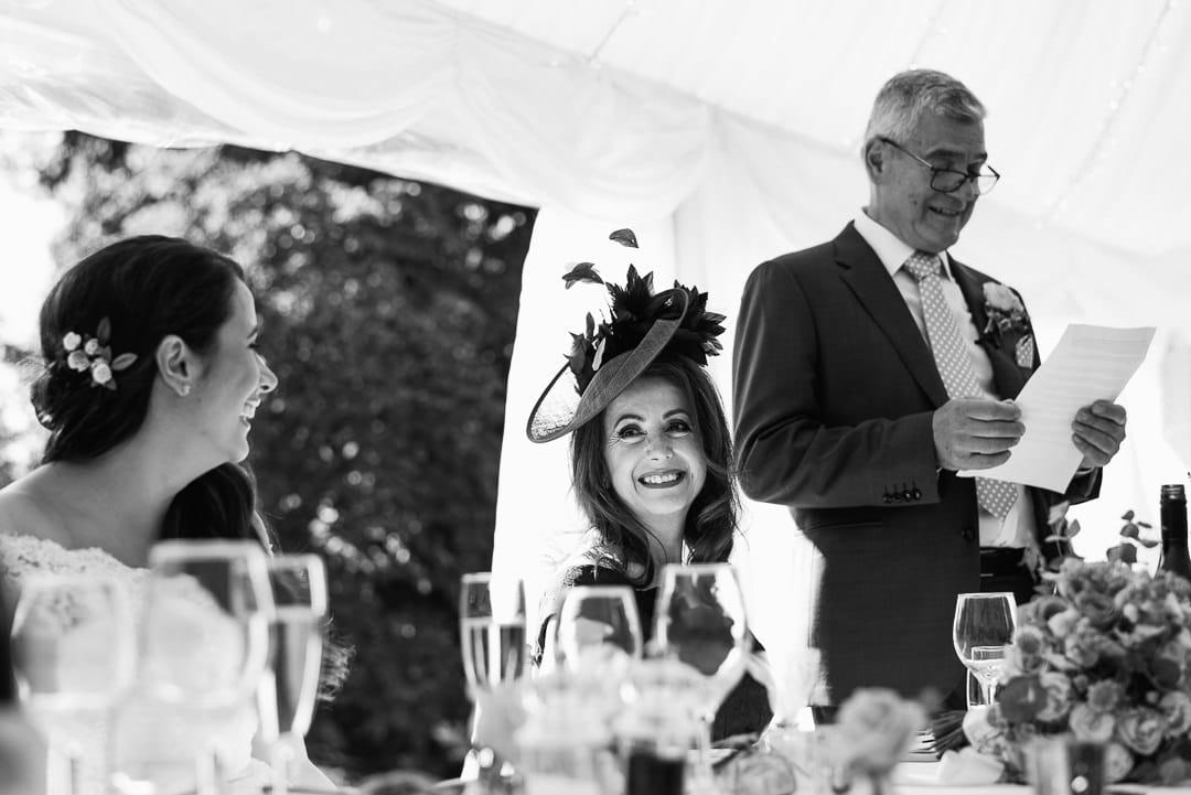 marquee wedding father of bride speech photo ardington house